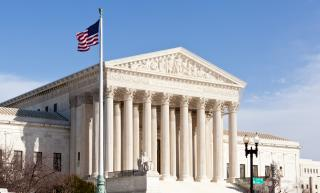 Facade of US Supreme court in Washington DC on sunny day (Deseret Photo)