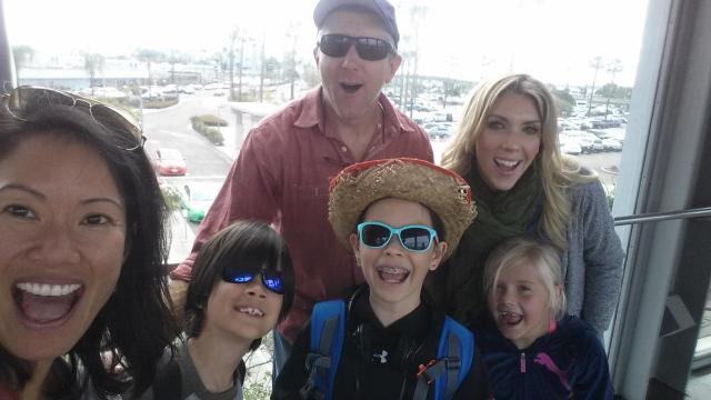 Our friends-cation began with the gang arriving at the San Diego airport, ready for adventure. (Deseret Photo)
