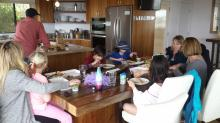 Chaotic mealtime in our shared Airbnb house revolved around the oversized dining room table. The secret? Shared meals and rotating everything, including chores, groceries and clean up. (Deseret Photo)