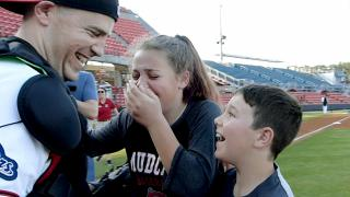 Airman home from deployment surprises kids