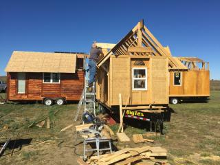 The Rev. John Floberg's two Episcopal congregations in Sioux County, North Dakota, are building tiny homes that will share the church lot. (Deseret Photo)
