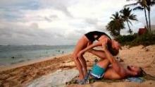 IMAGE: Man sets up video camera to record himself and his girlfriend doing yoga, but his true motive makes her burst into tears