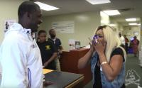 IMAGE: The Clean Cut: Football coach surprises a mom with full ride scholarship for her son