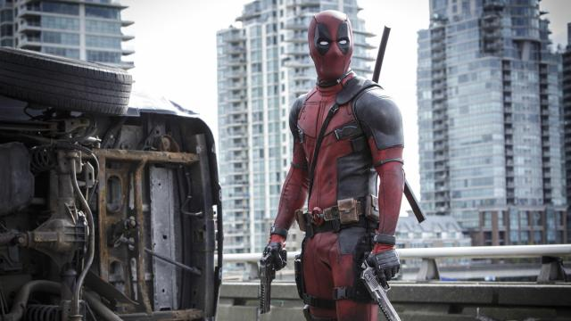 """This image released by Twentieth Century Fox shows Ryan Reyonlds in a scene from the film, """"Deadpool."""" (Joe Lederer/Twentieth Century Fox Film Corp. via AP) (Deseret Photo)"""