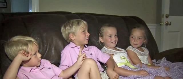 In Wendell, growing quadruplets plus baby and teen make for a full house