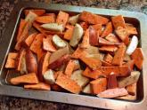 IMAGES: Baked sweet potato wedges offer healthier option