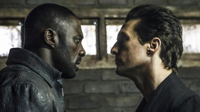 "This image released by Sony Pictures shows Idris Elba, left, and Matthew McConaughey in the Columbia Pictures film, The Dark Tower."" (Ilze Kitshoff/Columbia Pictures/Sony via AP) (Deseret Photo)"