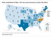 IMAGE: Here's how many times God is mentioned in state constitutions