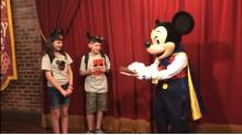 IMAGE: Siblings think they're just going to meet Mickey Mouse, but then he reveals something that changes their lives forever