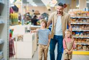 IMAGE: Woman leaves her husband with the kids at the grocery store; when she comes back she catches him red-handed