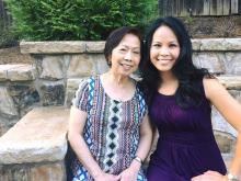 WRAL Anchor Reporter Renee Chou and her mom