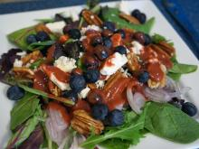 Local Dish: Blueberry salad with raspberry vinaigrette