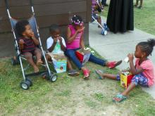 McDonald's provided lunch for 100 children Friday at Raleigh North Millbank Court Apartments.