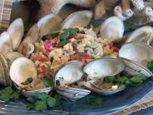Clams with risotto