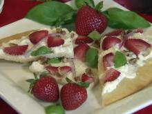 Strawberry flatbread pizza