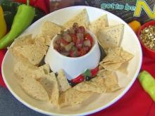 Peach and cherry tomato salsa
