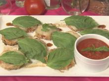 Crispy parmesan tomatoes