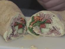 Roast beef and veggie wrap