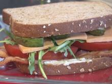 High-stack tomato sandwich