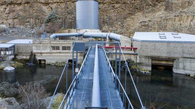 Crooked River, which is primarily fed by the Opal Springs Aquifer, and is the source of the Opal Springs Water Company's unfiltered, untreated, unsterilized spring water, in Culver, Ore., Dec. 4, 2017. On the West Coast and in other pockets around the country, many people are looking to get off the water grid, and start-ups have emerged in the last few years to deliver untreated water on demand.