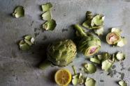 IMAGES: Diving Into the Artichoke, That Delicious Mess