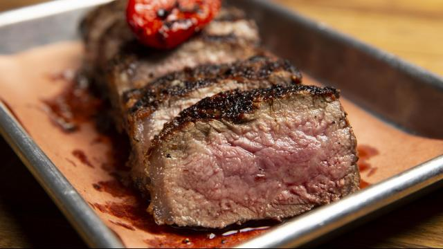 Smoked steak at Morgan's Brooklyn Barbecue in New York, July 10, 2018. Two methods, barbecuing and grilling, meet in an unusual approach taken by Cenobio Canalizo, the chef at Morgan's Brooklyn Barbecue. (Caitlin Ochs/The New York Times)