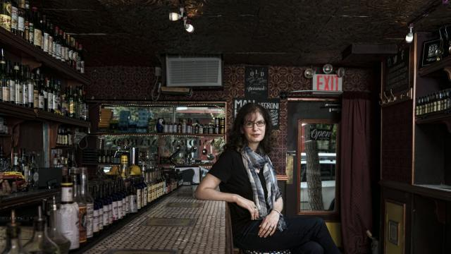 """FILE -- Kara Newman, the author of """"Nightcap,"""" at the bar Amor y Amargo, in New York, Aug. 20, 2016. In examining the drink category, Newman established at least one solid rule: There can only be one nightcap per night. (Sasha Maslov/The New York Times)"""
