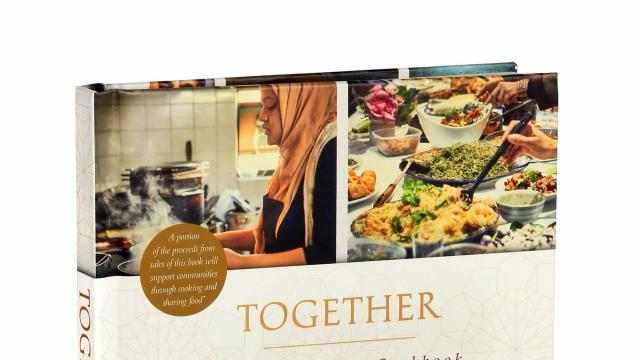 """Together: Our Community Cookbook"" by the Hubb Community Kitchen. After the devastating fire in the Grenfell Tower in London last year, many of people that escaped struggled to feed their families; they had no place to cook but a community kitchen in a nearby mosque available a couple of days a week. In January, Meghan Markle, who had yet to become the Duchess of Sussex, visited and suggested the women write a cookbook to raise funds and allow the kitchen to be open every day. (Patricia Wall/The New York Times)"