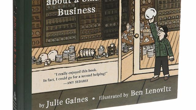"""The graphic novel """"Minding the Store: A Big Story About a Small Business"""" in New York, Oct. 24, 2018. The graphic novel tells the story of Fishs Eddy, a shop that specializes in vintage tableware. (Sonny Figueroa/The New York Times)"""