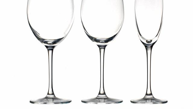 A new line of stemware from Korin. The glasses, in two designs and multiple sizes, are $3.99 each. At that price, you can even buy Champagne flutes and classic martini glasses. (Sonny Figueroa/The New York Times)