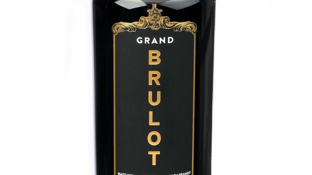 A bottle of Grand Brulot in New York on Nov. 17, 2018. Grand Brulot is a new take on the French tradition of spiking coffee with brandy as a digestif. (Alessandra Montalto/The New York Times)