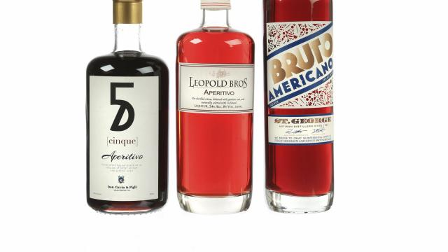 Three American aperitivos that use carmine, the insect-derived coloring that Campari has replaced in most of its bottlings since 2006. Makers of American aperitivos are taking it back up. (Patricia Wall/The New York Times)