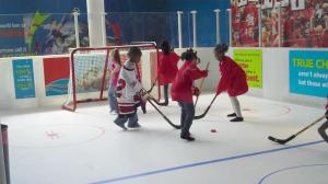 The popular exhibit at Marbles includes an indoor hockey rink.
