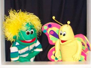 Bartlet (left) with Flit is a popular part of Kazoom Puppet Theatre in Raleigh.