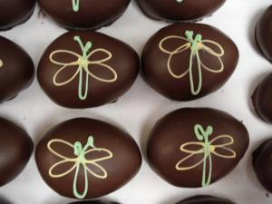 Chocolate Smiles in Cary makes about nine different flavors of Easter eggs.
