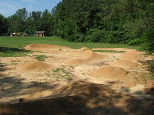 A new pump track in Durham opens June 10, 2010 at Solite Park.