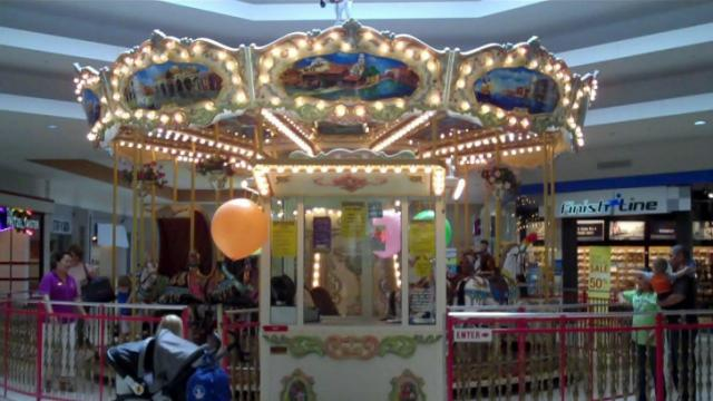 Triangle carousels: Cary Towne Center