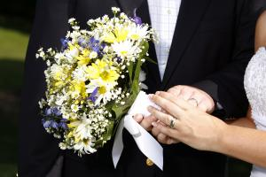 Christine Bowley wedding photo