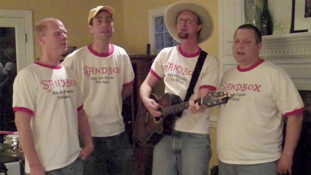 Sandbox Band sings Dinosaur Ride.