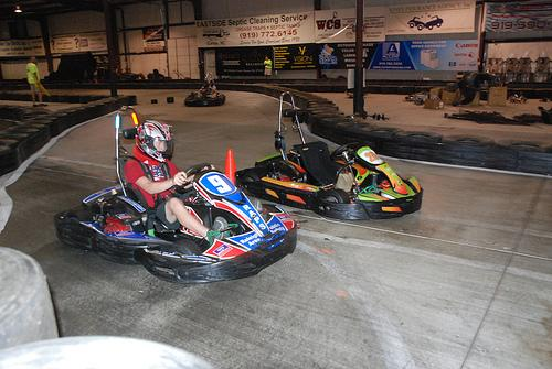 Rush Hour Karting hosts a racing league for kids.