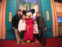 Amanda Lamb and family at Disney