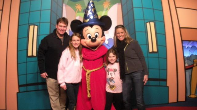 Amanda Lamba and family at Disney