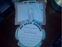 Amanda Lamb's younger daughter's hero is her older sister.