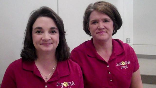 Teresa Bozzano and Jacqui Holden own Just 4 Kids consignment sale.