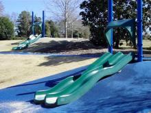 Slides at Anderson Point Park