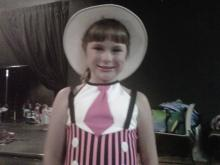 Amanda Lamb's daughter at dance recital
