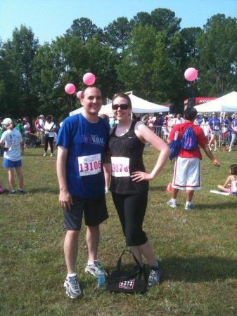 Kathy and her husband participated in the Komen Race for the Cure.