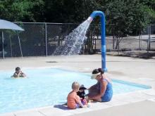 The wading pool at Lake Johnson Pool