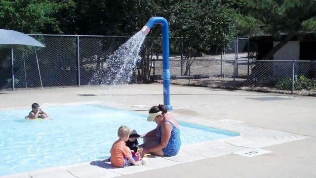 The wading pool at Lake Johnson Pool.