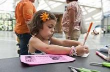The Nasher Museum of Art offers summer drop-in crafts on Tuesday mornings and Thursday evenings this summer. Photo by Dr. J Caldwell.